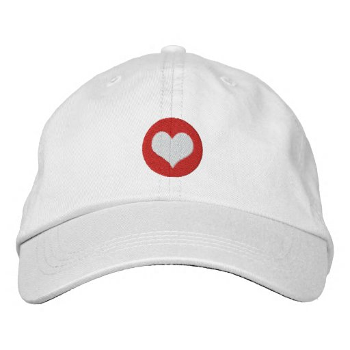 Love Heart Embroidered Baseball Cap