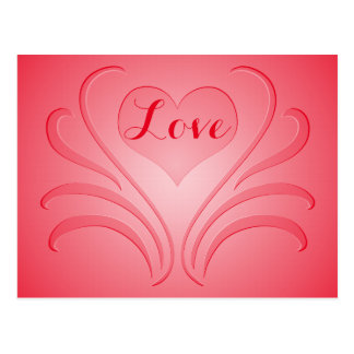 Love Heart Flair Curlicue Stencil Pick Any Color Post Cards