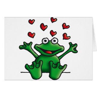 love heart frog card