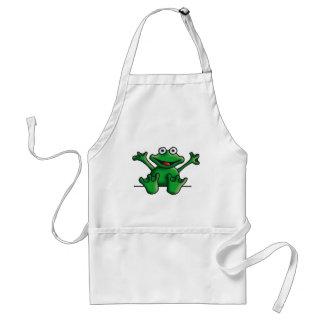 love heart frog standard apron