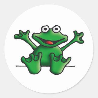 love heart frog round sticker