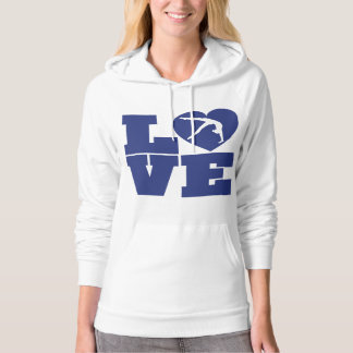 Love Heart Gymnastics Girl's Women's Shirt Hoodie