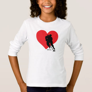 Love Heart Hockey Girls Hockey T-Shirt