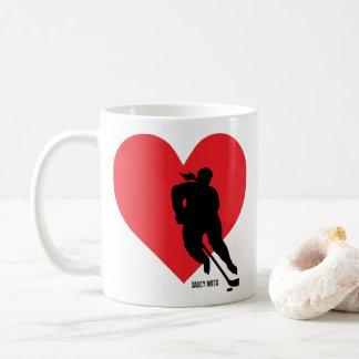 Love Heart Hockey Womens Hockey Girls Hockey Coffee Mug