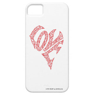 LOVE HEART I-PHONE CASE by MINIFACES iPhone 5 Cover