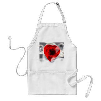 Love heart in glass apron
