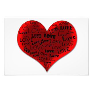 Love Heart in Red Photo Print