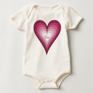 Love heart infant onsie creeper
