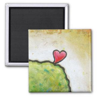 Love heart leaping beautiful fun contemporary art fridge magnet