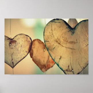 Love Heart Logs Poster