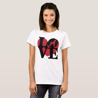LOVE Heart Min Pin T-Shirt