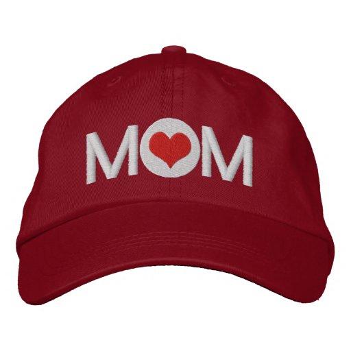 Love Heart Mom Embroidered Baseball Cap
