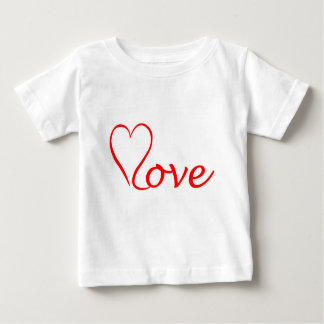 Love heart on white background baby T-Shirt