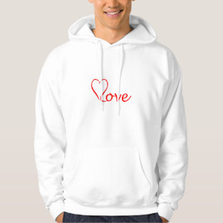 Love heart on white background hoodie