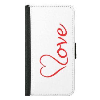 Love heart on white background samsung galaxy s5 wallet case
