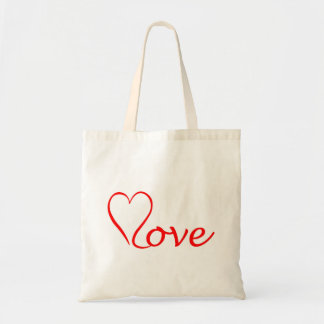 Love heart on white background tote bag