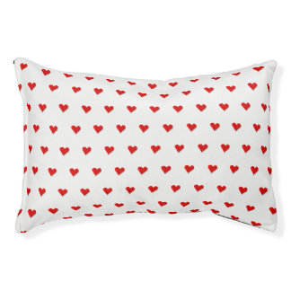 Love Heart Origami Pattern Dog Bed