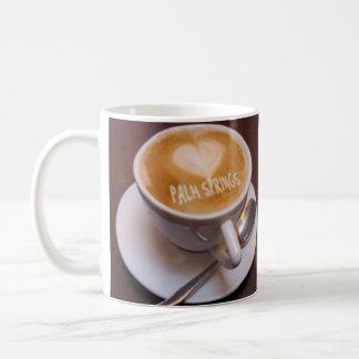 Love Heart Palm Springs Cappuccino Coffee Cup Mug