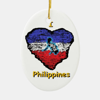 love heart philippines ceramic ornament