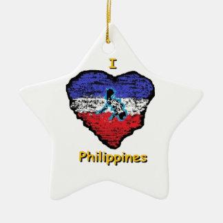 love heart philippines ceramic star decoration