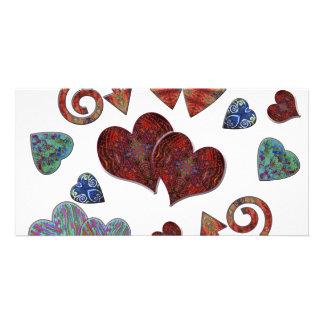 Love Heart Photo Greeting Card