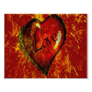 Love Heart Photo Print