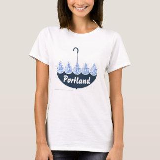 Love Heart  Portland Blue Umbrella Rain T-shirt