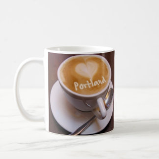 Love Heart Portland Cappuccino Coffee Cup Mug