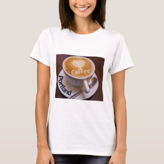 Love Heart  Portland Cappuccino Coffee Cup T-Shirt