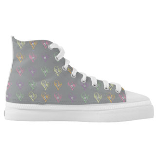 Love Heart Printed Shoes