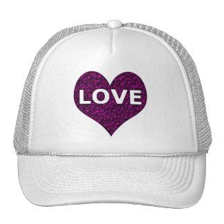 Love Heart Purple Chrome Cap