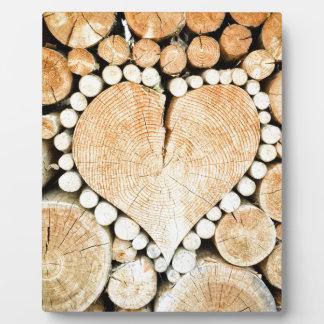 Love, heart, romance, wood mosaic plaque