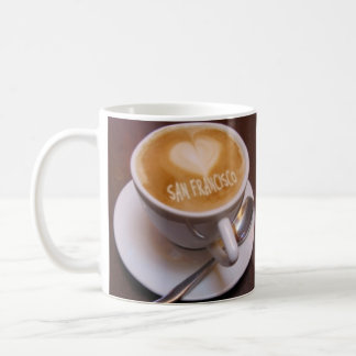 Love Heart San Francisco Cappuccino Coffee Cup Mug