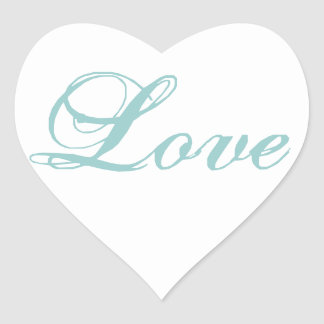 Love Heart Shape Stickers for Weddings Blue