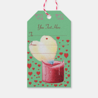 love heart shaped flame red candle illustration