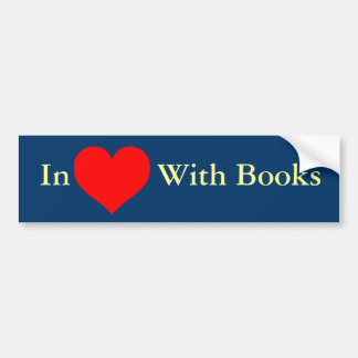 Love_Heart_SVG.svg, In ((())) With Books Bumper Sticker