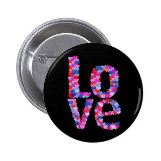 LOVE Heart Text Button