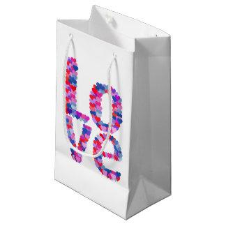 LOVE Heart Text Gift Bag Small Gift Bag
