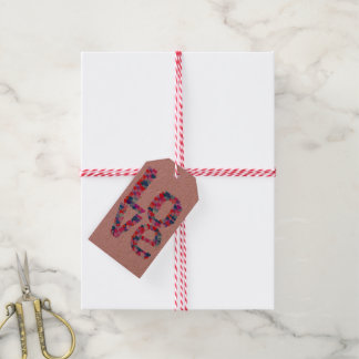 LOVE Heart Text Gift Tag