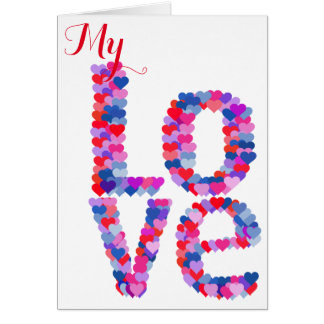 LOVE Heart Text Greeting Card