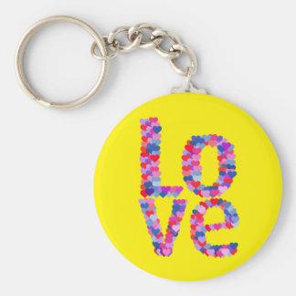 LOVE Heart Text Keychain