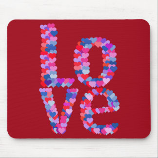 LOVE Heart Text Mousepad