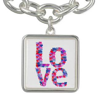 LOVE Heart Text Necklace
