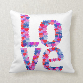 LOVE Heart Text Pillow