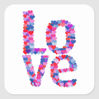 LOVE Heart Text Sticker