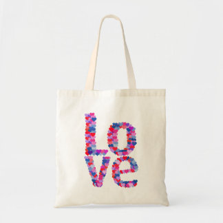 LOVE Heart Text Tote Bag