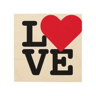 Love Heart Wedding Newlywed Couple Wood Art Canvas Wood Canvas