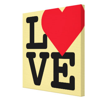 Love Heart Wedding Newlywed Home Room Decor Canvas Canvas Print