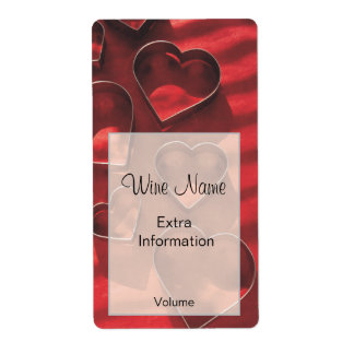 Love Heart Wine Label Shipping Label