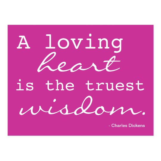 Love, Heart, Wisdom - Inspired Postcard